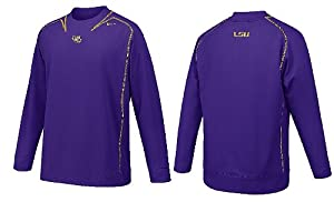 LSU Tigers Pay Dirt Embroidered Smooth Finish Performance NikeFit Crew Top by Nike