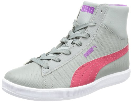 Puma Archive Lite MID L Jr High Top Unisex-Child Gray Grau (limestone gray-virtual pink 02) Size: 38/5 UK