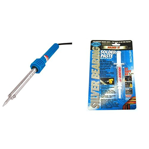 Soldering Iron 110V 30 Watt with Heat Shield & Silver Bearing Solder Paste (Silver Bearing Solder Paste compare prices)