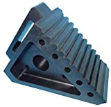 YM W4194 Solid Rubber Wheel Chock with Handle, 8-3/4 Length, 4 Width, 6 Height - Pack of 2