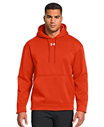 Under Armour Men\'s Armour® Fleece Team Hoodie Medium Dark Orange