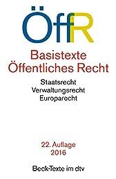 Basistexte Öffentliches Recht (dtv Beck Texte)