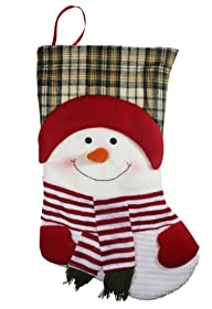 20″ Long 3D Happy Plush Snowman Chris…
