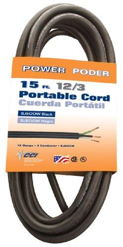 Coleman Cable 09609 12/3 Bulk Wire, 25-Amp 12-Gauge 15-Feet