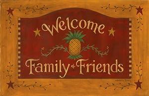 Amazon Com Mat Welcome Family Amp Friends Pineapple Door