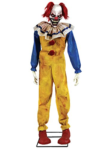 Twitching Clown Animated Halloween Prop Animated Lifesize Poseable Haunted House