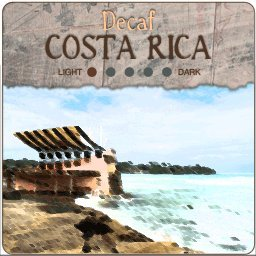 Decaf Costa Rica Reserve Coffee - Whole Bean - 1Lb