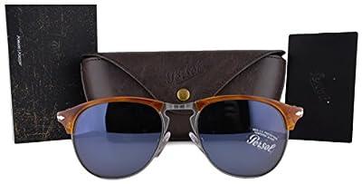 Persol Sunglasses PO8649S Havana w/Blue Lens 9656 PO8649