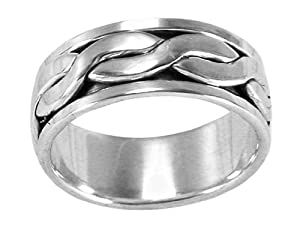 Men's Spin Spinning Ring 925 Sterling Silver Size 09