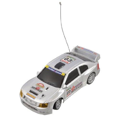 Como Children 40MHz Remote Control 4WD 1:24 Scale Racing Car Toy Silver Tone