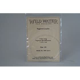 Wild Water Fly Fishing Tapered Leader-2X