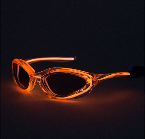 Siga® Orange Led Flash Light Up El Wire Sunglasses As Seen On The Today Show,2*Aa Battery Powered(Not Includes)
