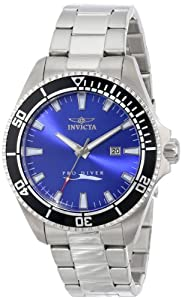 Invicta Mens 15184SYB Pro Diver Blue Dial Stainless Steel Watch with Impact Case