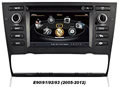 See susay for 2005 2006 2007 2008 2009 2010 2011 2012 BMW 3 series E90 E91 E92 E93 Car DVD Player With GPS Navigation(free Map)Audio Video Stereo System with Bluetooth , USB/SD, AUX Input, Radio(AM/FM), TV, Plug & Play Installation Details