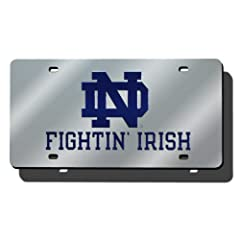 Buy NCAA Notre Dame Fighting Irish Laser Tag, Silver by Rico