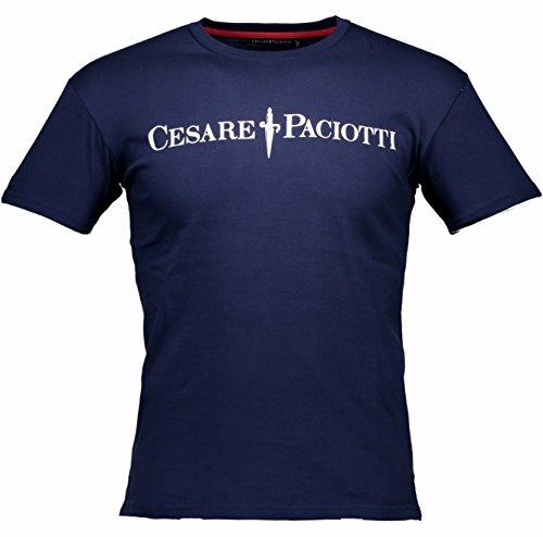 Maglia T-shirt Maniche Corte Uomo Cesare Paciotti Men Short Sleeves Crew Neck CP05TS-Blu-S