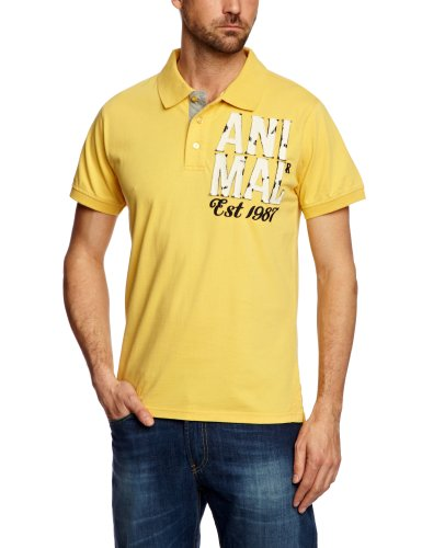 Animal Romona Polo Men's T-Shirt Mellow Yellow Small - CL3SC069-D21-S