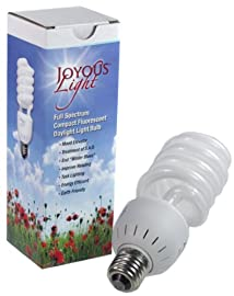 ALZO Joyous Light 27W Full Spectrum Compact Fluorescent CFL Light Bulb - 5500K- 120V - ALZO Joyous Light Daylight Pure White Light - 1300 Lumens
