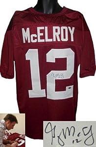 Greg McElroy Autographed Jersey - Alabama Crimson Tide Maroon Custom Hologram -... by Sports+Memorabilia