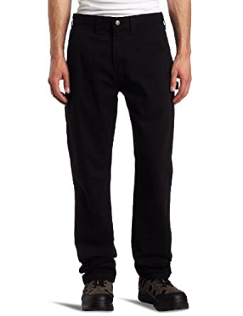 Carhartt Men's Washed Twill Relaxed Fit Dungaree Pant B324, Black, 30x30