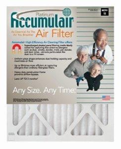 18x36x1 (17-1/2x35-1/2) Accumulair Platinum Filter MERV 11 4-Pack