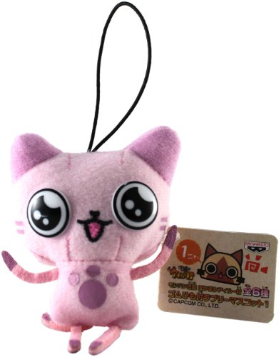 "Banpresto Official Monster Hunter 2010 Plush Strap: 3"" - Pink Airu - 1"
