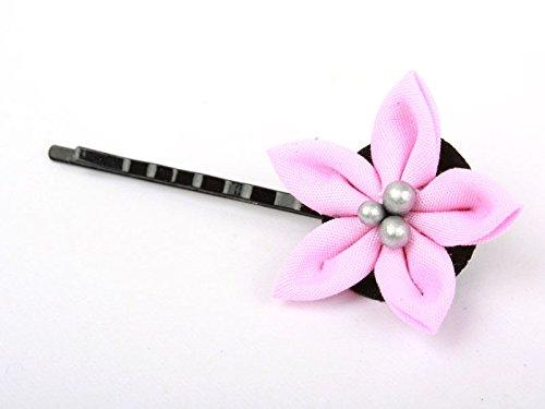 花 ヘアピン ピンク 和装浴衣着物など 髪飾り フラワー