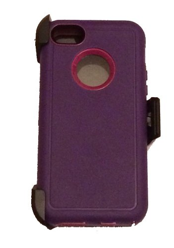 Over 50 Styles & Colors Avaiable Iphone 5C Defender Shockproof Heavy Duty Hybird Rugged Cover Case (Defender W/Clip Purple)