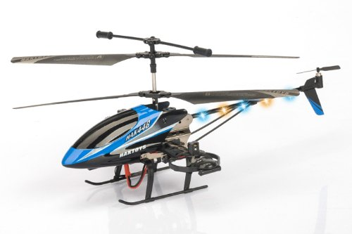 """Haktoys® HAK448 4 Channel 16"""" RC Helicopter, Gyroscope, Rechargeable, Ready to Fly, and with LED Lights - Colors May Vary"""