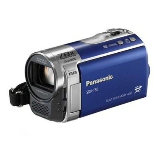 Panasonic SDR-T50A Std-Def SD Camcorder with 78X Zoom & 4 GB Flash Memory (Blue)