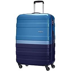 American Tourister Pasadena Spinner L Fl Maletas y trolleys, 76 cm, 89 L, Azul (Azul)