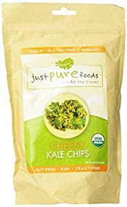 Just Pure Foods Organic Vegetables and Seasoning, Cheesy Kale Chips, 2.0 Ounce