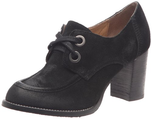 Hush Puppies Women's Cupid Black Waxy Suede Platforms Heels H2613596P 4 UK