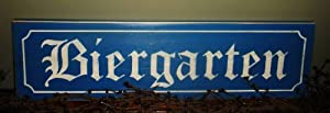 LARGE BIERGARTEN Shabby Rustic Chic CUSTOM Wall Decor Plaque wood sign CHOOSE COLOR by Prim and Proper Decor