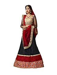 Black Net And Georgette Lehenga Choli