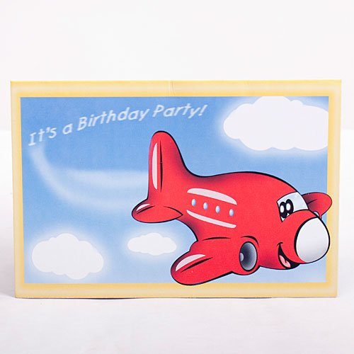 Airplane Invitations Package of 8