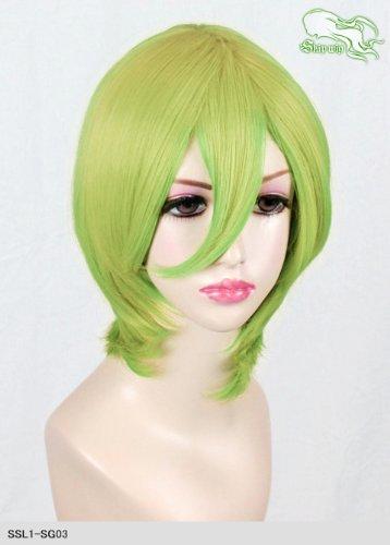 スキップウィッグ 魅せる シャープ 小顔に特化したコスプレアレンジウィッグ マシュマロショート スプリンググリーン