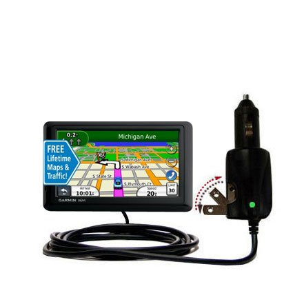 Car and Home 2 in 1 Combo Charger for the Garmin nuvi 1490LMT 1490T - uses Gomadic TipExchange Technology