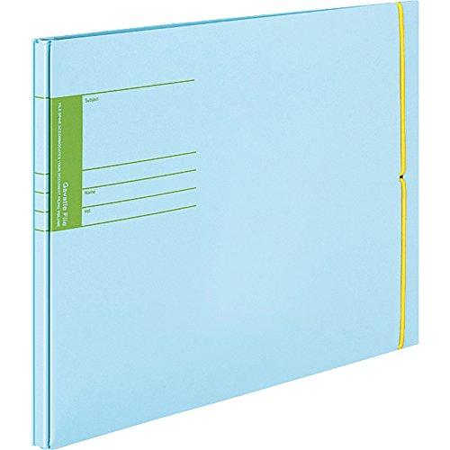 Può contenere vincolante one-touch con un elastico staff-sc199b circa 800pezzi B4-E Kokuyo scuola Stampa Moth Bat file Blu (Japan Import)
