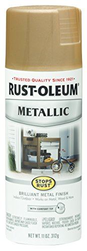 Rust-Oleum 286524 Stops Rust Vintage Metallic Spray Paint 11 Oz, Warm Gold, (Gold Spray Paint compare prices)