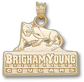 Brigham Young (BYU) Cougars BYU Logo 5 8 Pendant - 10KT Gold Jewelry by Logo Art
