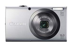 Canon PowerShot A2300 Digitalkamera (16 Megapixel, 5-fach opt. Zoom, 6,9 cm (2,7 Zoll) Display, bildstabilisiert) silber