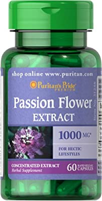 Puritan's Pride Passion Flower 1000 mg-60 Capsules