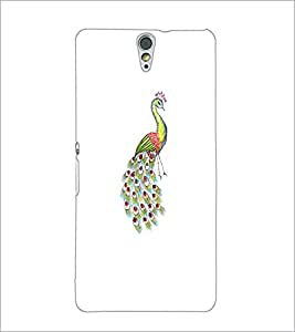 PrintDhaba Peacock D-4745 Back Case Cover for SONY XPERIA C5 ULTRA (Multi-Coloured)