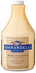 Ghirardelli White Chocolate Sauce Case of 6 - 89.4oz each