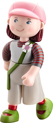 """HABA Little Friends Bendy Dollhouse Doll Elise 4"""" with Pink Hat"""