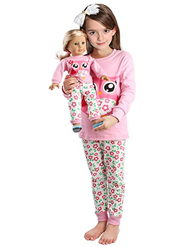 Matching Christmas Pajamas for Toddler Girl & Doll