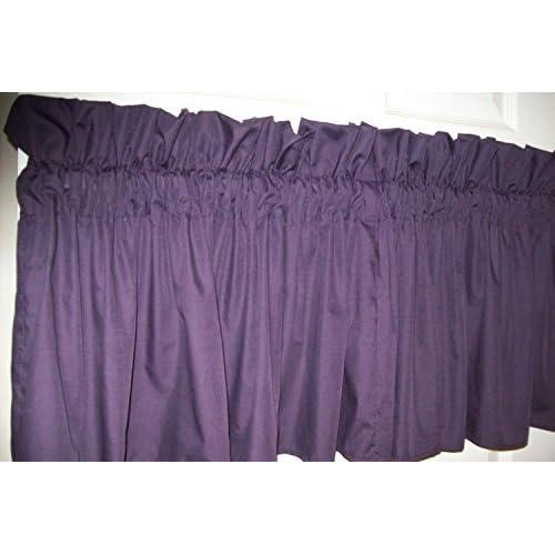 Amazon Com Eggplant Dark Purple Valance 86 Quot Wide X 15