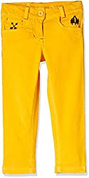 UFO Girls' Trousers (AW16-NDF-GKT-401_Spectre Yellow_14 - 15 years)