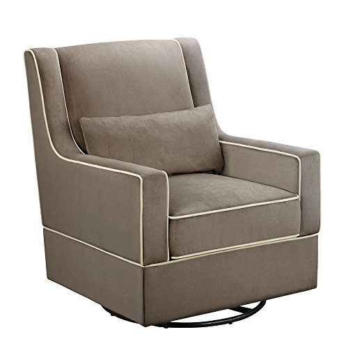 Dorel Asia The Sydney Nursery Microfiber Swivel Glider Chair